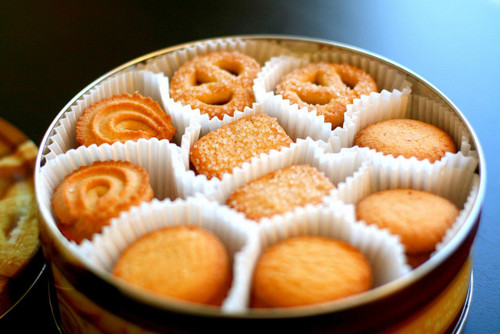 danish butter cookies. yum