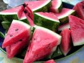 you don't need a plate for watermelon.