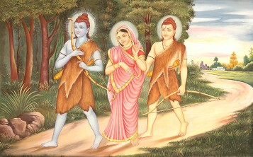Rama, Lakshmana and beautiful Sita go for a walk in a demon invested forest