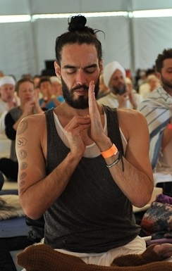 Russell Brand-ing yoga.  heh. heh.