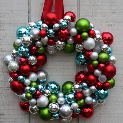 ornament ball wreath 2