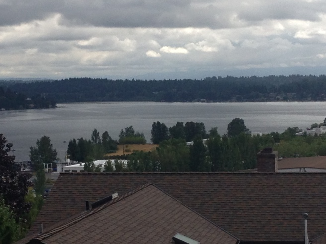 View of Lake washington, view ridge, Seattle