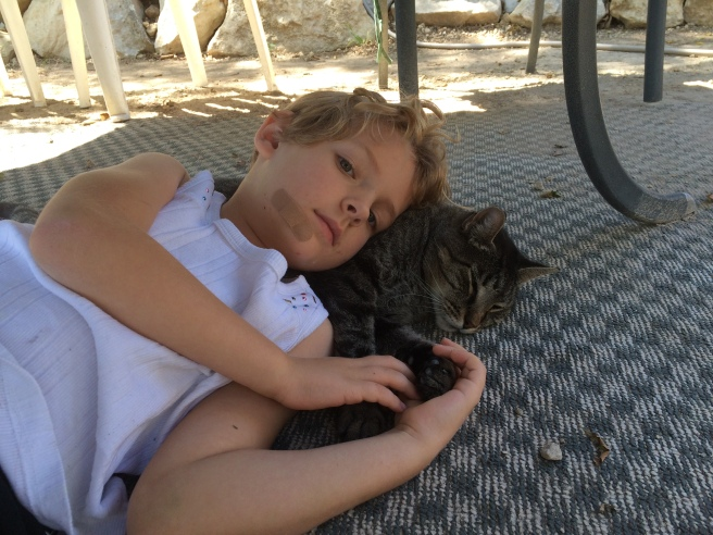 Nora with Cat.